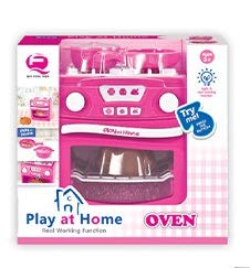 Play at Home Dollhouse Oven Set with Lights /& Sound Sky Toys