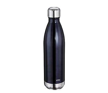 Cilio 543469 bidón de agua 750 ml Negro, Acero inoxidable ...
