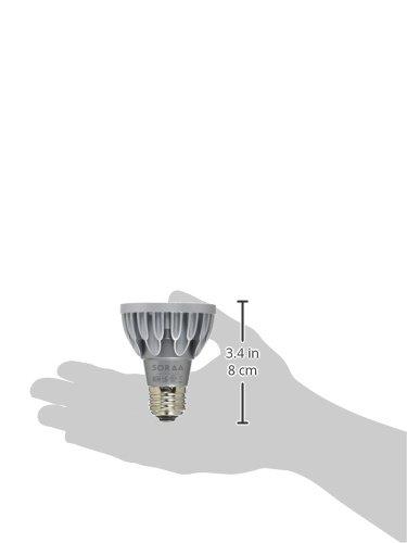 Bulbrite SP20-11-10D-827-03 SORAA 10.8W LED PAR20 2700K Brilliant 10/° DIM Silver