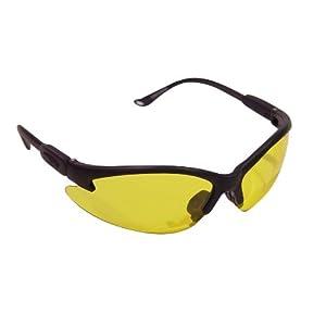 Vaughan 597-14 SV1300 Amber Half Frame Wrap Around Protective Eyewear