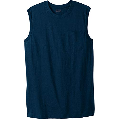 Boulder Creek Men's Big & Tall Heavyweight Pocket Muscle Tee, Navy Big-8XL ()