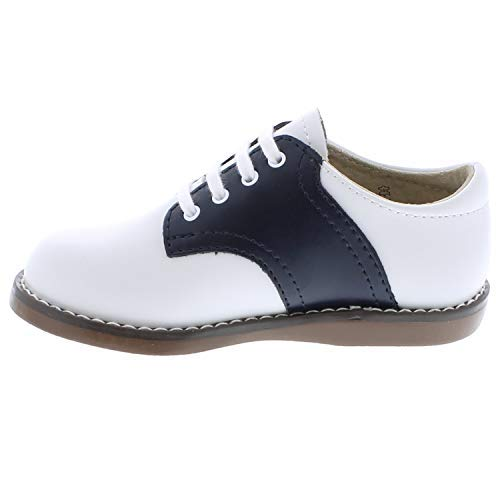 FOOTMATES Cheer Laceup Saddle White/Navy - 8401/13 Little Kid M/W by FOOTMATES (Image #6)