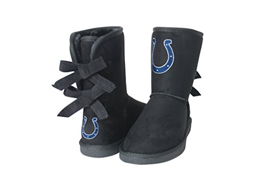NFL Indianapolis Colts Women's Patron Boots, 8, Black Colt Suede Boot