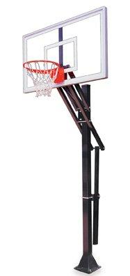 最初チームSlam nitro-bp steel-glass in ground調整可能バスケットボールsystem44、マルーン B01HC0BNXS