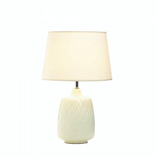 Amazon.com: Lámpara de mesa de cerámica de color blanco ...