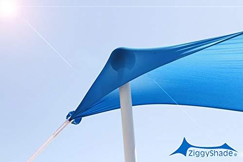 2 Extra Poles for a ZiggyShade Beach Tent ZiggyPoles (7.2 ft) (6.75ft - Fits Jumbo ZiggyShade) ()