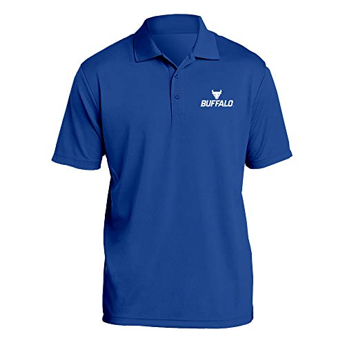 (AP07 - University at Buffalo Bulls Primary Logo LC Polo - Large - Royal)