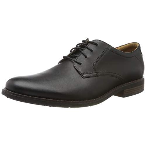 chollos oferta descuentos barato Clarks Becken Lace Zapatos de Cordones Brogue para Hombre Piel Negra 39 5 EU