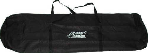 Audio2000'S ACC4395-99 Dual-Pack Speaker Stand Canvas Carrying Bag with a Divider (Speaker Stand Carrying Bag)