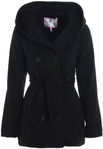 Girls Black Jacket Hooded Coat Age 7 - 13 (Age 7-8): Amazon.co.uk ...