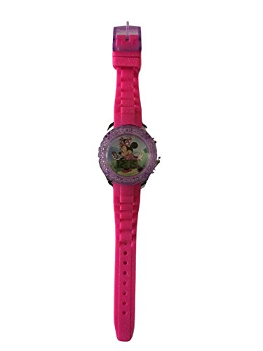 Minnie Girls Watch LCD Wristwatch Pink