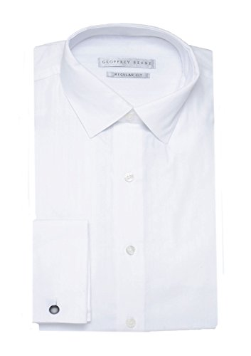 Geoffrey Beene Wrinkle Free Regular Fit Dress Shirt, White FR Cuff 15.5 32/33