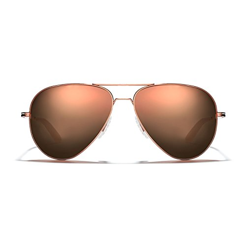 ROKA Phantom Ti Performance Aviator Non-Polarized Sunglasses for Men and Women - Copper Frame - Rose Gold Mirror Lens Size - Ti Sunglasses