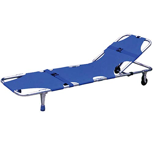 (CEEYEERA Medical Emergency Stretcher Bed Portable Aluminum Alloy with Safety Belt Backrest Rescue 78x21x7