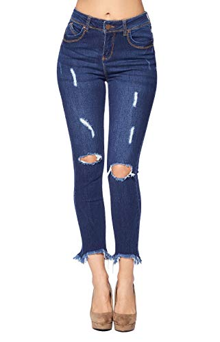 (Blue Age Women's Destroyed Butt Lifting Skinny Ankle Jeans Medium (JP1106_MD_5))
