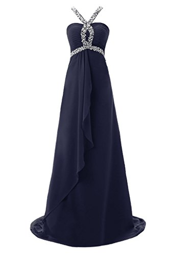 Topdress Women's Halter Evening Dress Crystals Straps Prom Dresses Formal Gown Red US 18Plus