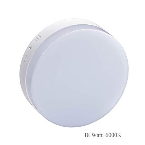 Surface Fixture (Led Ceiling Lights 18W(90W Halogen Bulb) Flush Mount Ceiling Light Fixture 1440LM 5000K Daylight White Round Mounted Surface Downlights for Kitchen, Garage, Balcony-No Dimmable)