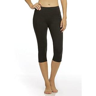 Marika Women's Carrie Slim Fit Capri Legging, Heather Charcoal, Small