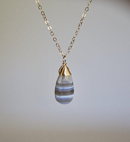 Boulder Opal - Boulder Opal Teardrop Gemstone Gold Filled Necklace - 18