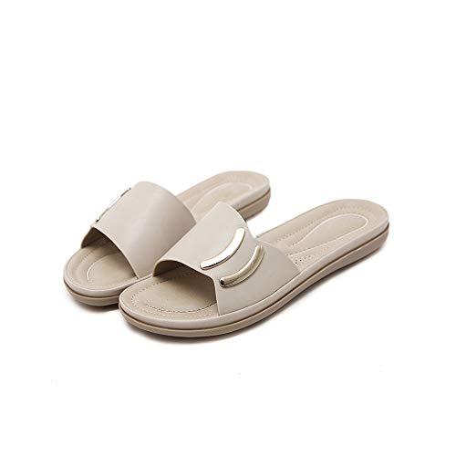 Lacitena Confortables Grandes Sandales Chaussures Chaussures Plates Roses Mesdames Plage de PFtr1P