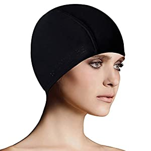 BALNEAIRE Lycra Swim Cap for Women & Men Spandex Swimming Caps
