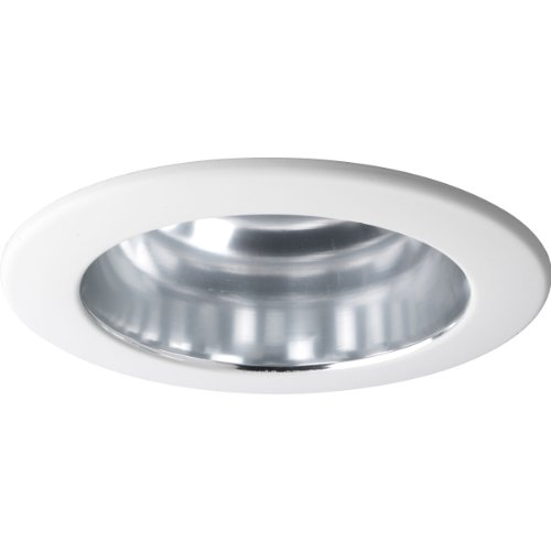 - Progress Lighting P8145-21 Clear Alzak Finish Open Trim UL/CUL Listed For Damp Locations, Clear Alzak