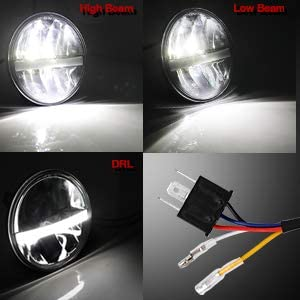 5.75 inch led headlight 1pc motorcycle LED Headlight Projector Headlamp Driving Lights for Hrly 883 Sportster XL1200C XL883C and More