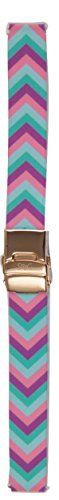 (16mm Chevron Printed Quick Release SnuG Watchband (Pink/Blue/Purple Chevron Print) fits Moto360, Fossil Q Neely & Acomplice)