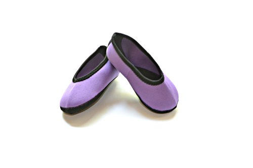 Nufoot Indoor Toddler Shoes Ballet Flat, Purple, Size 9T- 12T 2 Count