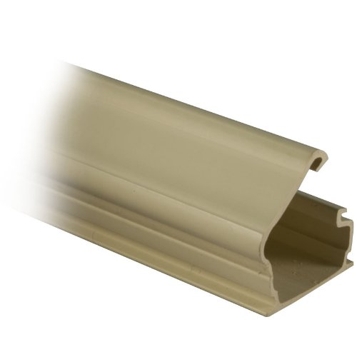 GadKo 3/4 inch Surface Mount Cable Raceway, Ivory, Straight 6 foot Section