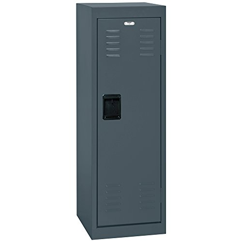 BUDDY PRODUCTS Single Tier Charcoal Welded Steel Locker, 48