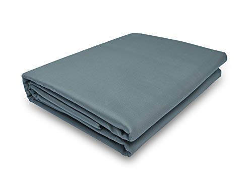 (Prince Bedding 800 Thread Count 100% Egyptian Cotton Ultra Soft 1 Piece Top Sheet (Flat Sheet ONLY) Queen Size Light Grey Color )