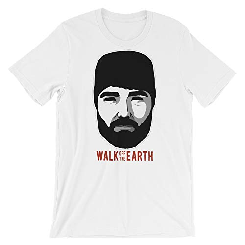 Walk Off The Earth Hipster Beard Guy Unisex T-Shirt White