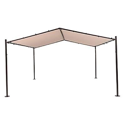 Outdoor Gazebo Canopy - TrueShade Plus Patio Portable Outdoor Canopy Garden Gazebo - Steel Frame with Surface Mount Plates 13u0027 x 13u0027 Beige  sc 1 st  Amazon.com & Outdoor Gazebo Canopy - TrueShade Plus Patio Portable Outdoor ...