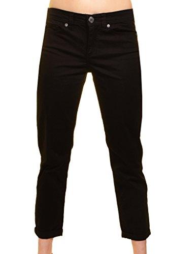 Calvin Klein Womens Power Stretch Skinny Cropped Pants, Black, 10