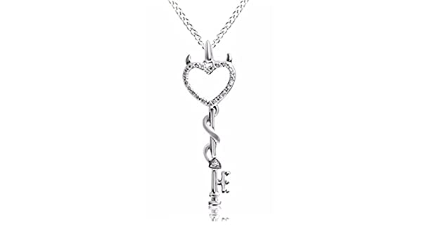 Ashley Jewels Simulated Diamond Studded Fashion Charm Pendant Necklace in 14K White Gold Plated With Box Chain