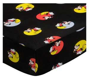 SheetWorld Fitted Pack N Play Sheet 29.5 x 42 - Mickey Mouse Circles - Made in USA by SHEETWORLD.COM