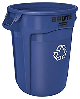 Rubbermaid Commercial Products FG263273BLUE Brute Recycling Container with Venting Channels, 32 gal, Blue (B001PUVVFM) | Amazon price tracker / tracking, Amazon price history charts, Amazon price watches, Amazon price drop alerts