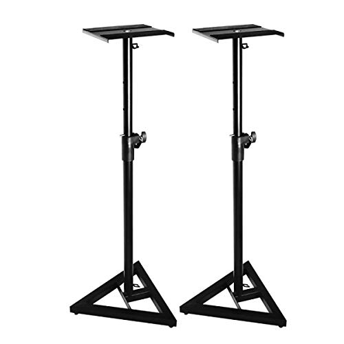 On Stage SMS6000 Adjustable Monitor Stands (Pair) (Studio Monitor Stand)
