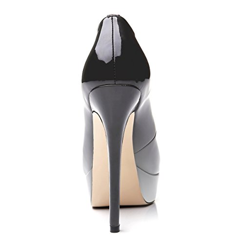 Tacco col Grigio Scarpe Scarpe Gradiente con da Donna plateau toe Scarpe uBeauty Scarpe peep XBAqw6BO