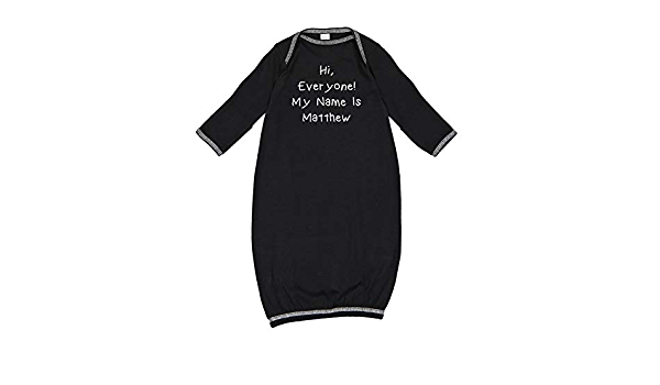 My Name is Murray Everyone Personalized Name Baby Cotton Sleeper Gown Hi