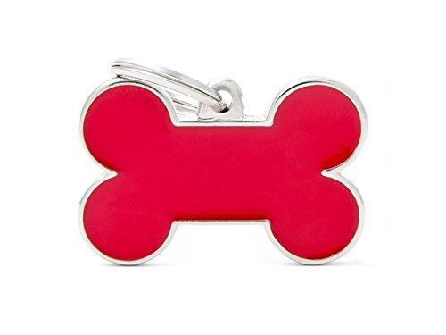 Médaille MyFamily Grand Os Rouge plaque chien gravure gratuite coutume chat