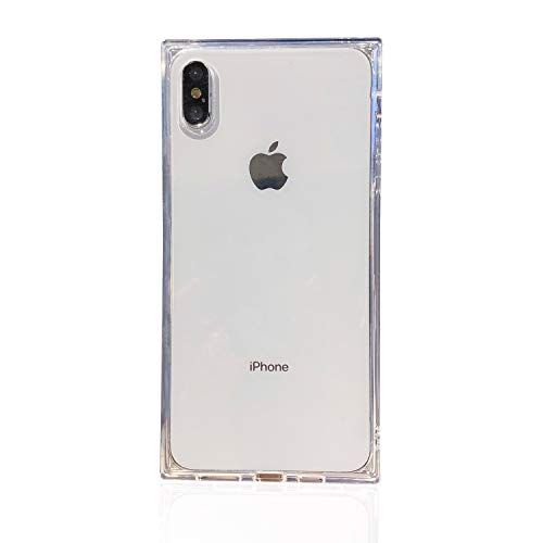 Tzomsze Transparent Case for iPhone Xs MAX, Reinforced Corners TPU Cushion,Crystal Clear Slim Cover Shock Absorption TPU Silicone Shell-White