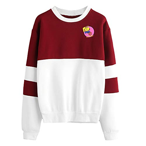 Chaud Aivosen Patchwork Pull over Femmes Exo Concis Unisex Hiver Red03 Manches Longues Hommes qIz6qwax