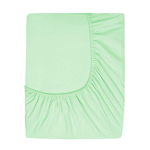 Prime Deep Pocket Fitted Sheet - Brushed Velvety Microfiber - Breathable, Extra Soft and Comfortable - Winkle, Fade, Stain Resistant (Mint, Queen)