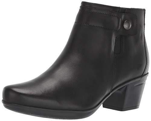 Clarks Women's Emslie Jada Ankle Boot, Black Leather, 70 M US