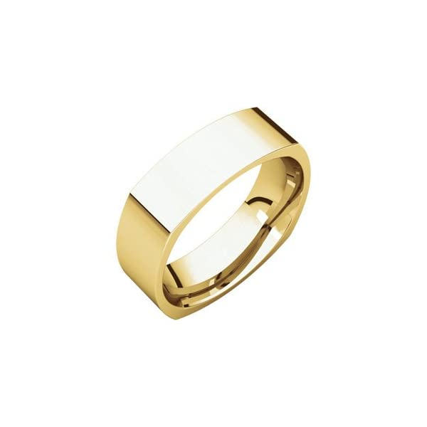 18kt-Yellow-6mm-Square-Comfort-Fit-Band