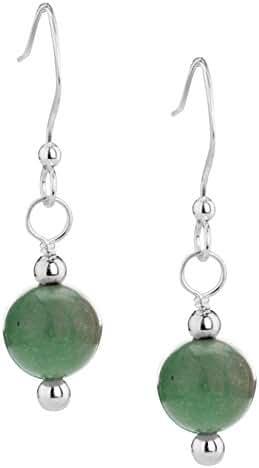 American West Sterling Silver Green Kingman Turquoise Earrings
