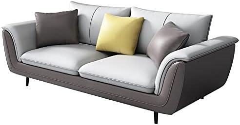 Modern Reversible sectional Burrow Sofa Rivet Revolve Modern Upholstered Loveseat Sofacaramel Leather Sofa Rivet Furniture loveseat Leather couches and Sofas Small Leather Sofa 56″ W Grey sectional