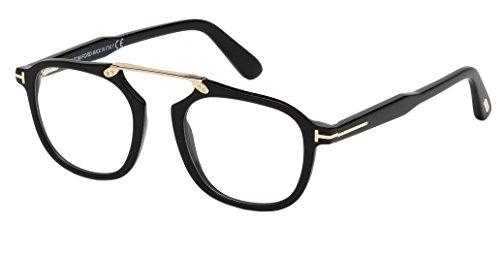 Tom Ford FT5495 Eyeglasses 001 Black, w/Demo Clear - Ford Frames Optical Tom